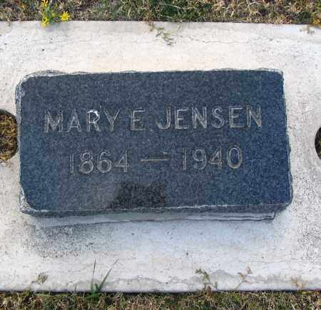 JENSEN, MARY E. - Cache County, Utah | MARY E. JENSEN - Utah Gravestone Photos