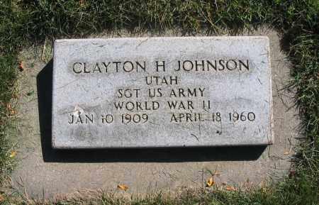 JOHNSON, CLAYTON H. - Cache County, Utah   CLAYTON H. JOHNSON - Utah Gravestone Photos