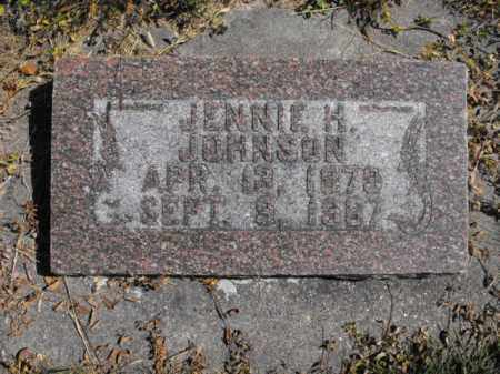 JOHNSON, JENNIE - Cache County, Utah | JENNIE JOHNSON - Utah Gravestone Photos