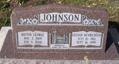 JOHNSON, MILTON GEORGE - Cache County, Utah | MILTON GEORGE JOHNSON - Utah Gravestone Photos