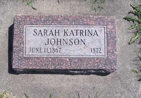 JOHNSON, SARAH KATRINA - Cache County, Utah | SARAH KATRINA JOHNSON - Utah Gravestone Photos