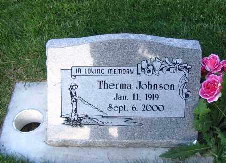 JOHNSON, THERMA - Cache County, Utah   THERMA JOHNSON - Utah Gravestone Photos