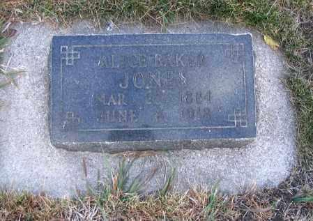 JONES, ALICE - Cache County, Utah | ALICE JONES - Utah Gravestone Photos