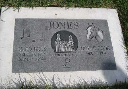 JONES, DOYLE COOK - Cache County, Utah | DOYLE COOK JONES - Utah Gravestone Photos