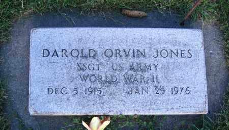 JONES, DAROLD ORVIN - Cache County, Utah | DAROLD ORVIN JONES - Utah Gravestone Photos