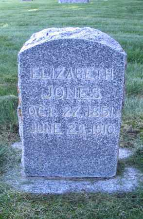 JONES, ELIZABETH - Cache County, Utah | ELIZABETH JONES - Utah Gravestone Photos