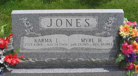 JONES, MYRL HYRUM - Cache County, Utah | MYRL HYRUM JONES - Utah Gravestone Photos