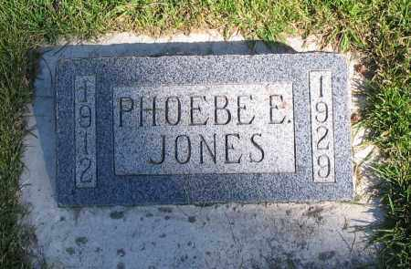 JONES, PHOEBE ELIZABETH - Cache County, Utah | PHOEBE ELIZABETH JONES - Utah Gravestone Photos