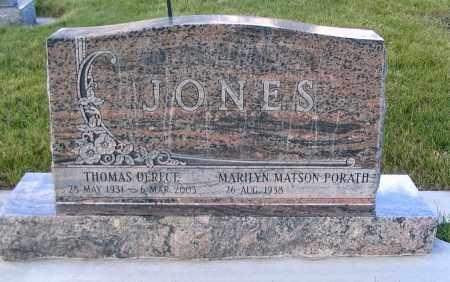 PORATH JONES, MARILYN MATSON - Cache County, Utah | MARILYN MATSON PORATH JONES - Utah Gravestone Photos
