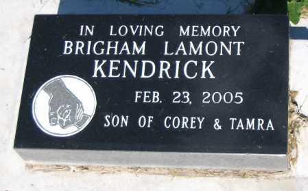 KENDRICK, BRIGHAM LAMONT - Cache County, Utah   BRIGHAM LAMONT KENDRICK - Utah Gravestone Photos