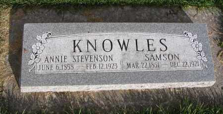 KNOWLES, ANNIE - Cache County, Utah   ANNIE KNOWLES - Utah Gravestone Photos