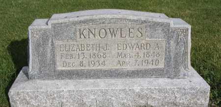 KNOWLES, ELIZABETH JANE - Cache County, Utah | ELIZABETH JANE KNOWLES - Utah Gravestone Photos