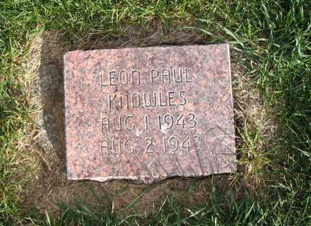 KNOWLES, LEON PAUL - Cache County, Utah   LEON PAUL KNOWLES - Utah Gravestone Photos
