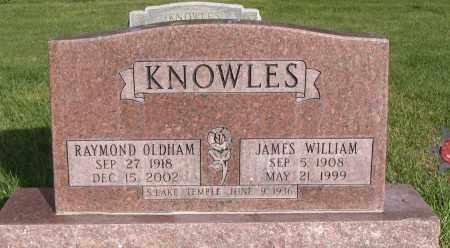 OLDHAM KNOWLES, RAYMOND - Cache County, Utah | RAYMOND OLDHAM KNOWLES - Utah Gravestone Photos
