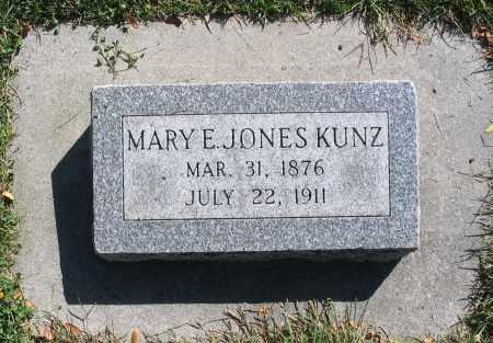 JONES, MARY E - Cache County, Utah | MARY E JONES - Utah Gravestone Photos