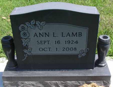 LAMB, ANN L. - Cache County, Utah | ANN L. LAMB - Utah Gravestone Photos