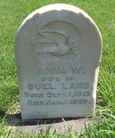 LAMB, ANNA W. - Cache County, Utah | ANNA W. LAMB - Utah Gravestone Photos