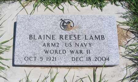 LAMB, BLAINE REESE - Cache County, Utah   BLAINE REESE LAMB - Utah Gravestone Photos