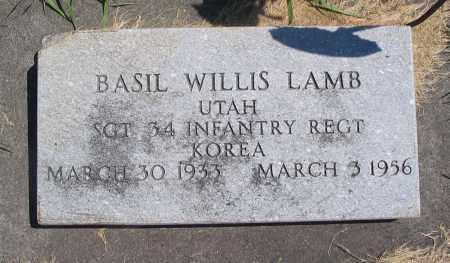 LAMB, BASIL WILLIS - Cache County, Utah | BASIL WILLIS LAMB - Utah Gravestone Photos