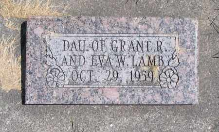 LAMB, DAUGHTER - Cache County, Utah | DAUGHTER LAMB - Utah Gravestone Photos