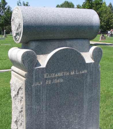 LAMB, ELIZABETH M. - Cache County, Utah | ELIZABETH M. LAMB - Utah Gravestone Photos