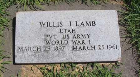 LAMB, WILLIS J. - Cache County, Utah   WILLIS J. LAMB - Utah Gravestone Photos