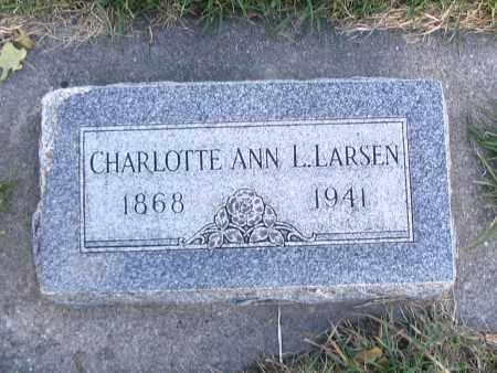 LARSEN, CHARLOTTE ANN L. - Cache County, Utah   CHARLOTTE ANN L. LARSEN - Utah Gravestone Photos