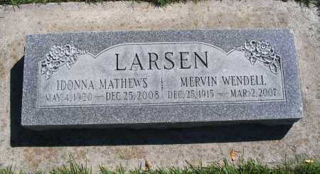 LARSEN, MERVIN WENDELL - Cache County, Utah   MERVIN WENDELL LARSEN - Utah Gravestone Photos