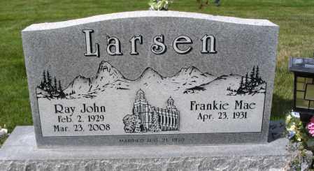 LARSEN, RAY JOHN - Cache County, Utah | RAY JOHN LARSEN - Utah Gravestone Photos