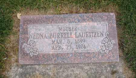 BURRELL LAURITZEN, EDNA - Cache County, Utah | EDNA BURRELL LAURITZEN - Utah Gravestone Photos