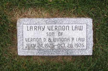 LAW, LARAY VERNON - Cache County, Utah | LARAY VERNON LAW - Utah Gravestone Photos