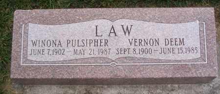 PULSIPHER LAW, WINONA - Cache County, Utah   WINONA PULSIPHER LAW - Utah Gravestone Photos