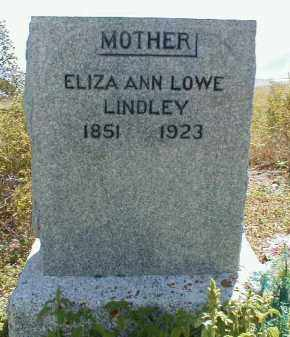LINDLEY, ELIZA ANN - Cache County, Utah   ELIZA ANN LINDLEY - Utah Gravestone Photos