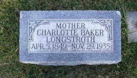 BAKER, CHARLOTTE - Cache County, Utah | CHARLOTTE BAKER - Utah Gravestone Photos