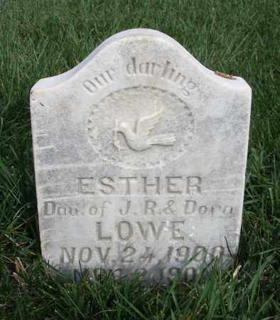 LOWE, ESTHER - Cache County, Utah   ESTHER LOWE - Utah Gravestone Photos
