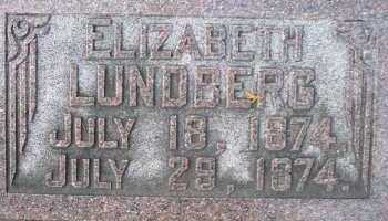 LUNDBERG, ELIZABETH - Cache County, Utah | ELIZABETH LUNDBERG - Utah Gravestone Photos