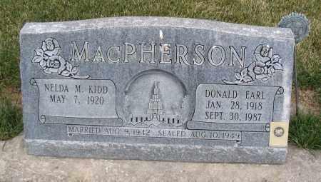 MAC PHERSON, DONALD EARL - Cache County, Utah   DONALD EARL MAC PHERSON - Utah Gravestone Photos