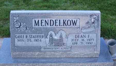 MENDELKOW, DEAN F. - Cache County, Utah | DEAN F. MENDELKOW - Utah Gravestone Photos