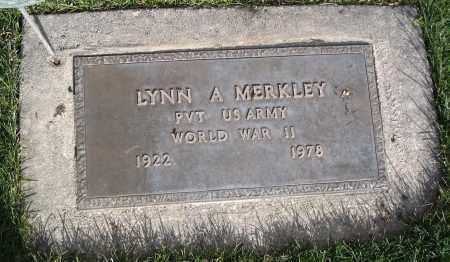 MERKLEY (WWII), LYNN A. - Cache County, Utah | LYNN A. MERKLEY (WWII) - Utah Gravestone Photos