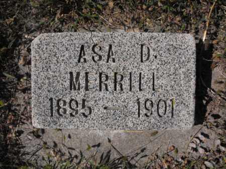 MERRILL, ASA - Cache County, Utah | ASA MERRILL - Utah Gravestone Photos