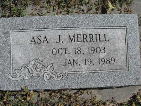 MERRILL, ASA - Cache County, Utah   ASA MERRILL - Utah Gravestone Photos