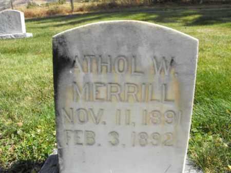 MERRILL, ATHOL - Cache County, Utah | ATHOL MERRILL - Utah Gravestone Photos
