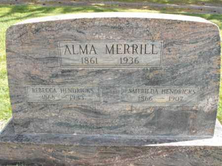 MERRILL, REBECCA - Cache County, Utah   REBECCA MERRILL - Utah Gravestone Photos