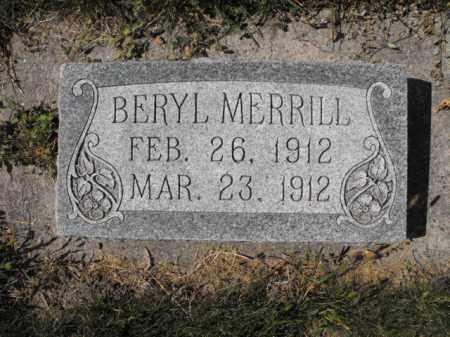 MERRILL, BERYL - Cache County, Utah   BERYL MERRILL - Utah Gravestone Photos