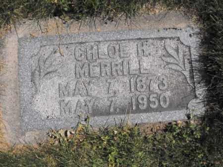 MERRILL, CHLOE - Cache County, Utah | CHLOE MERRILL - Utah Gravestone Photos