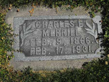 MERRILL, CHARLES - Cache County, Utah   CHARLES MERRILL - Utah Gravestone Photos