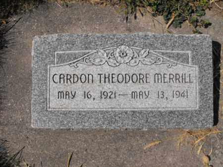 MERRILL, CARDON - Cache County, Utah   CARDON MERRILL - Utah Gravestone Photos