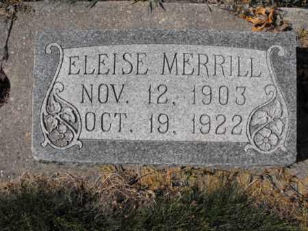 MERRILL, ELEISE - Cache County, Utah | ELEISE MERRILL - Utah Gravestone Photos