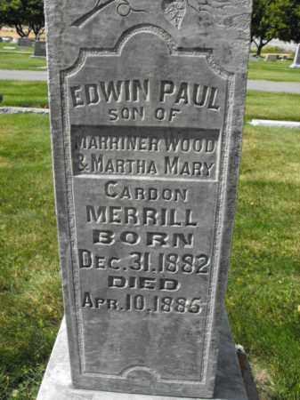 MERRILL, EDWIN - Cache County, Utah | EDWIN MERRILL - Utah Gravestone Photos