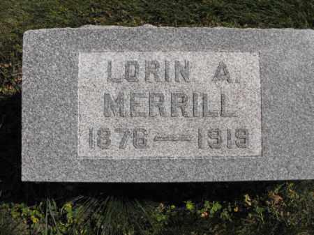 MERRILL, LORIN - Cache County, Utah | LORIN MERRILL - Utah Gravestone Photos